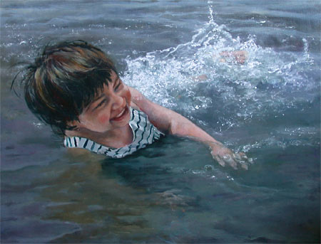 """Splash"" oil Painting by C. Greig-Manning"